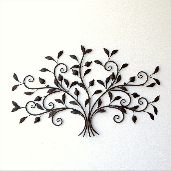 レトロなアイアンの壁飾り ブーケ(5)