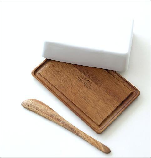 陶器のバターケースナイフ付き A(2)