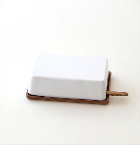 陶器のバターケースナイフ付き A(3)