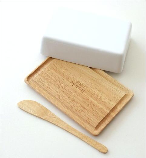 陶器のバターケースナイフ付き B(2)