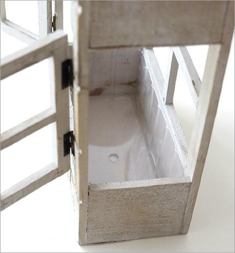 ウッド壁掛2階建てプランター(3)