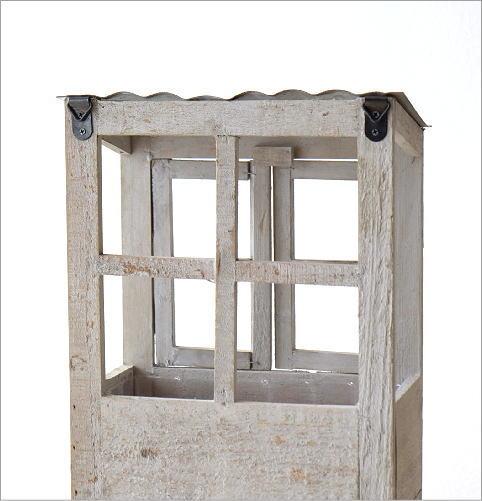 ウッド壁掛2階建てプランター(5)