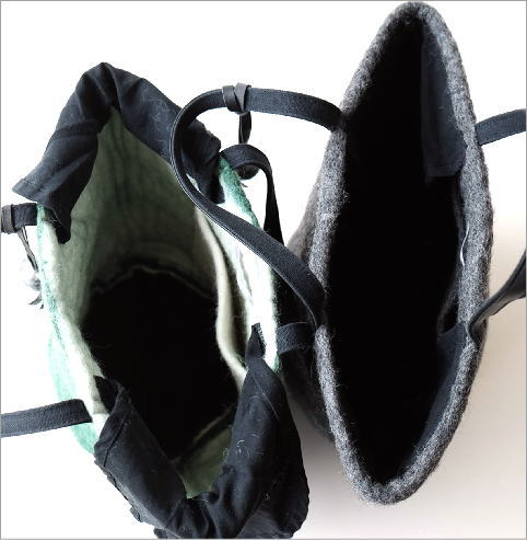底モヘアバケツ型バッグ2カラー(5)