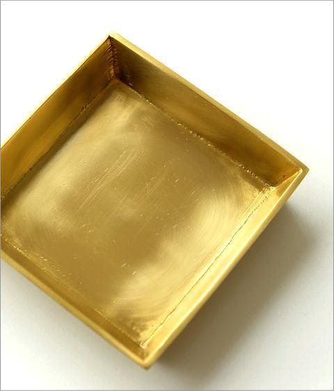 真鍮のスクエアトレイ(3)