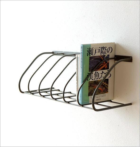 アイアン壁掛ブックシェルフ シングル(1)