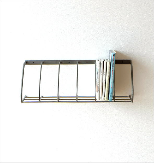 アイアン壁掛ブックシェルフ シングル(3)