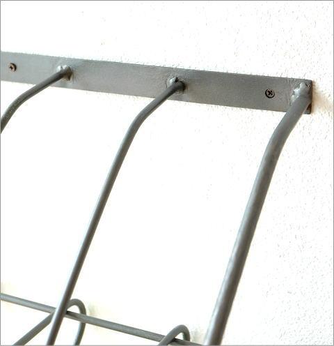 アイアン壁掛ブックシェルフ ダブル(2)