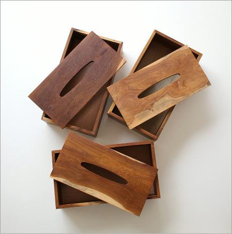 木のティッシュケース