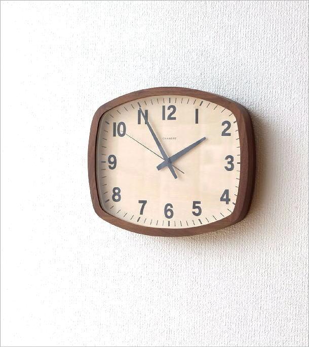ウォールクロックスクエア電波時計 WN(1)