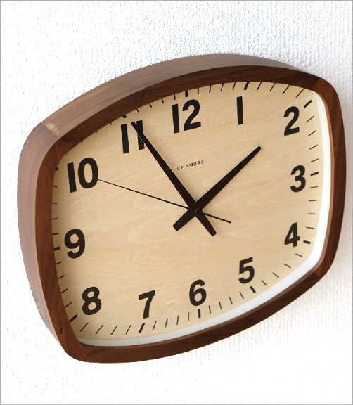 ウォールクロックスクエア電波時計 WN(3)