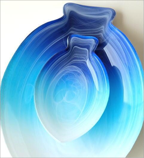 フィッシュガラスプレート大小2枚セット(2)