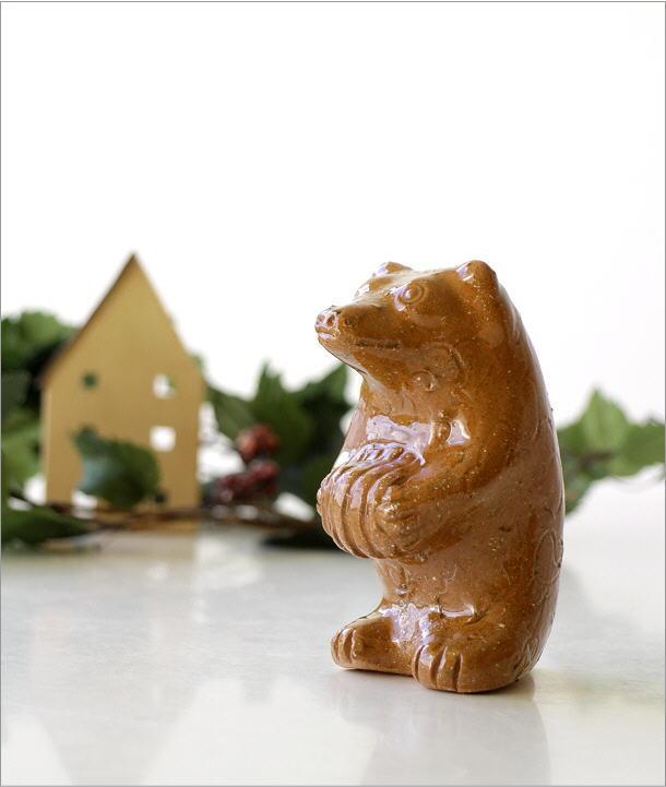 陶器のくまの置物(1)
