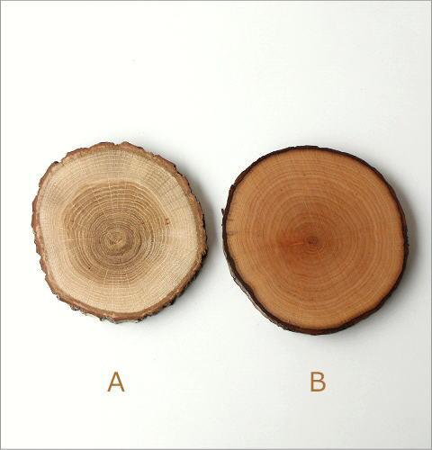 天然木のコースターセット 2タイプ(3)