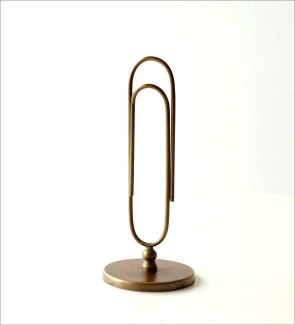 真鍮のビッグクリップスタンド(3)