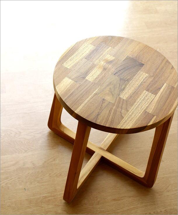 チークウッドスツール&テーブル(1)