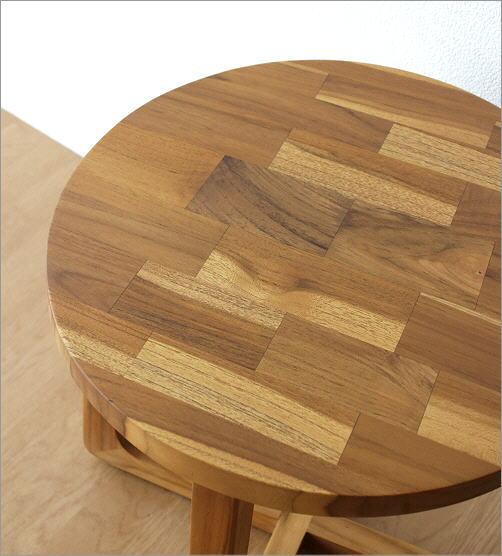 チークウッドスツール&テーブル(2)