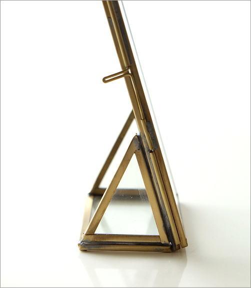 真鍮とガラスのフォトフレームS(2)