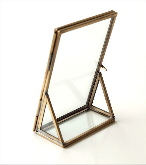 真鍮とガラスのフォトフレームS(3)