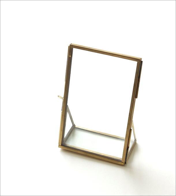真鍮とガラスのフォトフレームS(5)