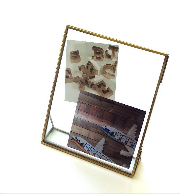 真鍮とガラスのフォトフレームL(1)