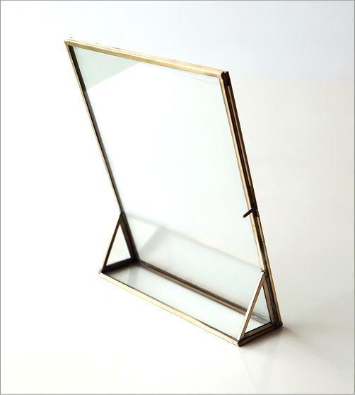 真鍮とガラスのフォトフレームL(3)