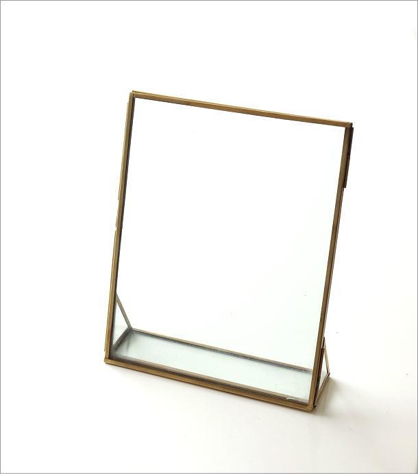 真鍮とガラスのフォトフレームL(5)