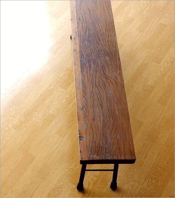 シャビーシックな折り畳みロングベンチ(2)