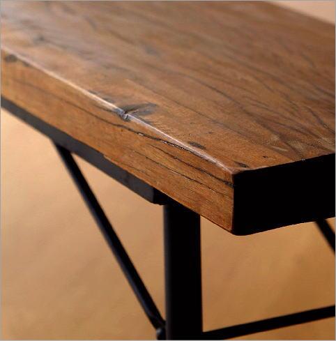 シャビーシックな折り畳みロングベンチ(4)