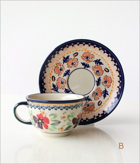 ポーランド陶器のカップ&ソーサー4タイプ(3)