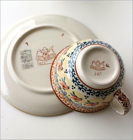 ポーランド陶器のカップ&ソーサー4タイプ(6)