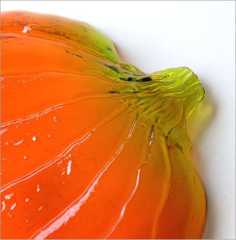 パンプキンガラスプレート大小2枚セット(3)