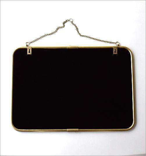 真鍮の壁掛けミラーL(3)