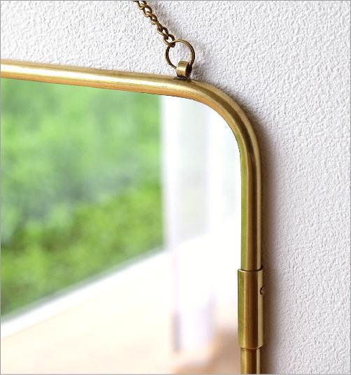 真鍮の壁掛けミラーM(2)