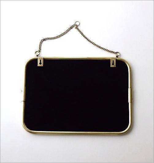 真鍮の壁掛けミラーM(3)