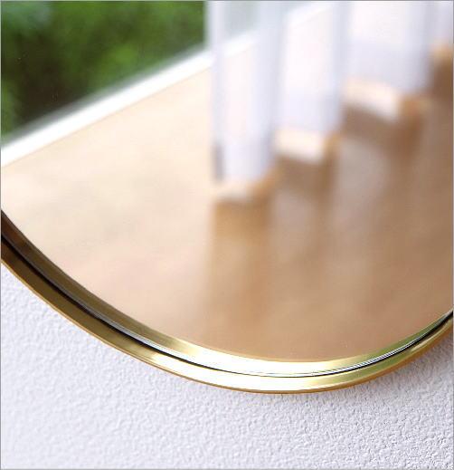 真鍮の壁掛けラウンドミラー(2)
