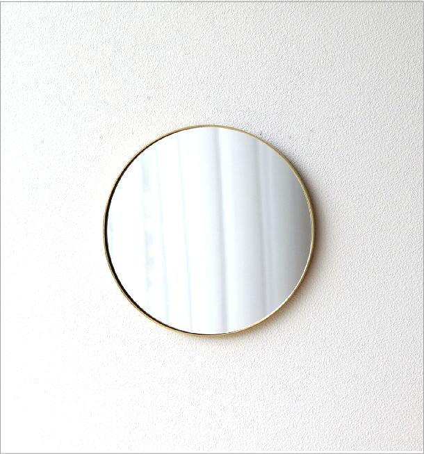 真鍮の壁掛けラウンドミラー(4)