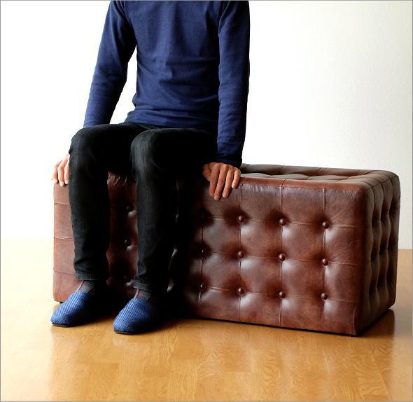 ベンチチェア 椅子 レザーロングベンチ(4)