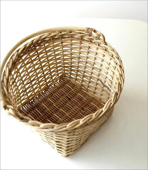 ラタンラウンド手つきバスケット(2)