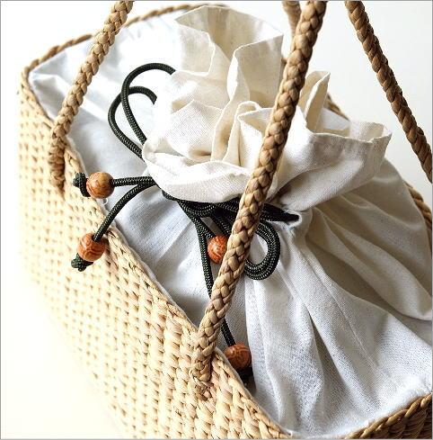 ウォーターヒヤシンス巾着バッグ(3)