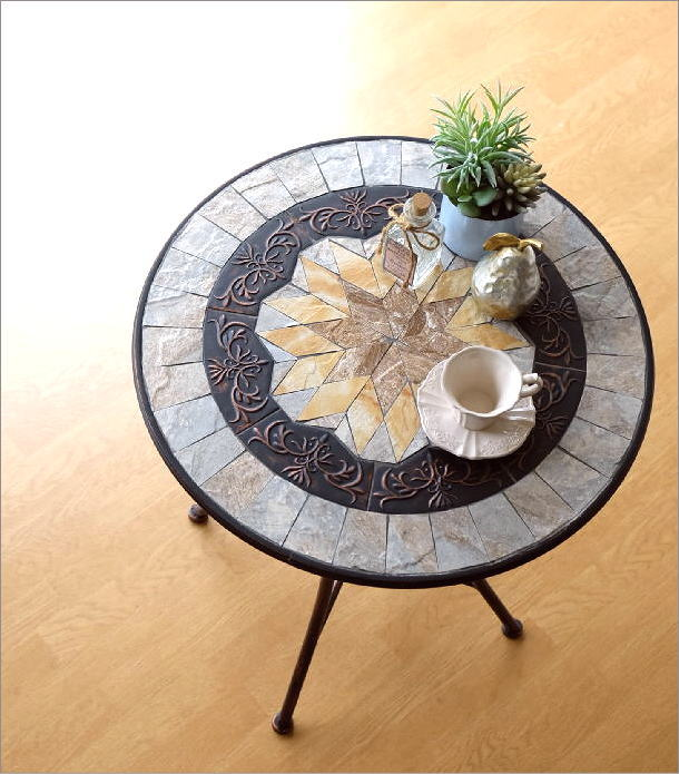 ガーデンメタル&モサイクテーブル(1)