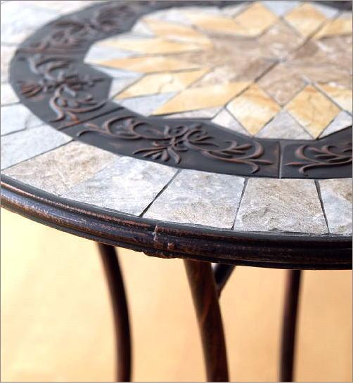 ガーデンメタル&モサイクテーブル(3)