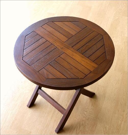 チークスモールテーブル&チェアーセット(4)