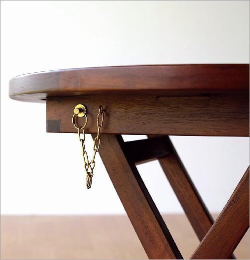 チークスモールテーブル&チェアーセット(6)