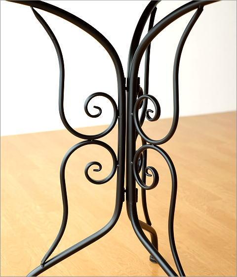 メタルブラックガーデンテーブル(3)