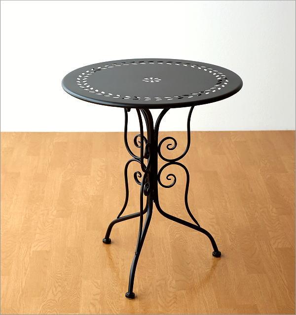 メタルブラックガーデンテーブル(5)