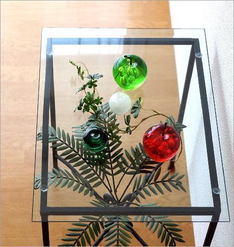 リーフスモールガラステーブル(2)