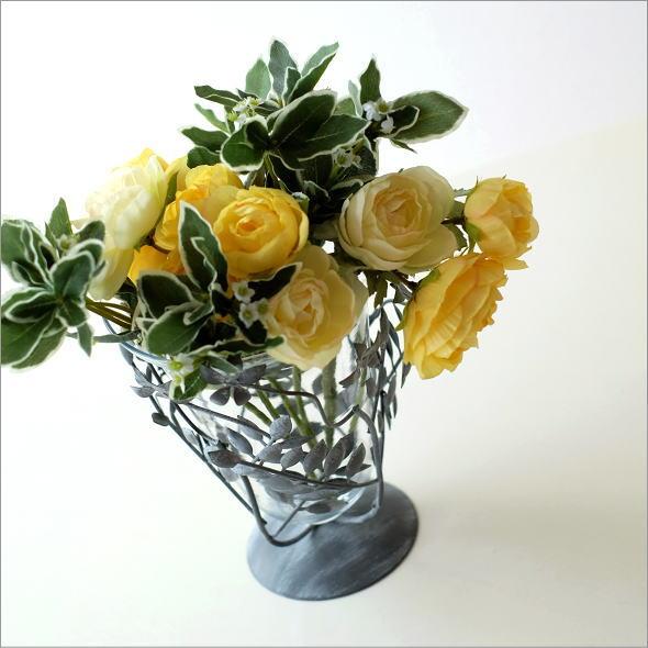 アイアンリーフの花瓶 グレイ(1)