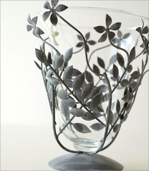 アイアンリーフの花瓶 グレイ(2)