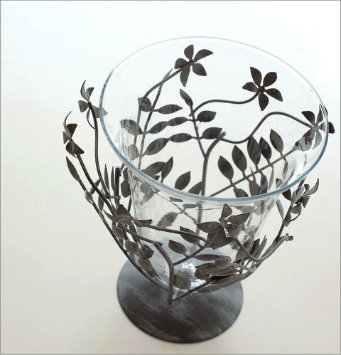 アイアンリーフの花瓶 グレイ(3)