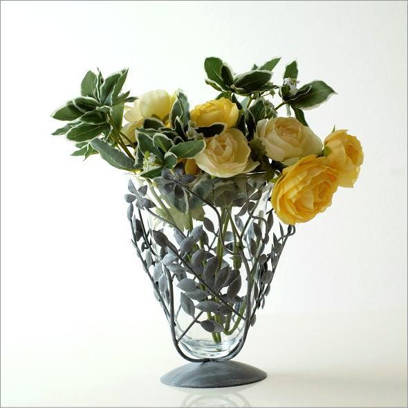アイアンリーフの花瓶 グレイ(5)